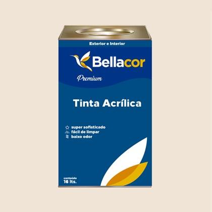 Tinta Acrílica Semi-Brilho Premium A20 Aveia e Mel 16L Bellacor