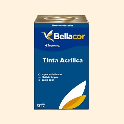 Tinta Acrílica Semi-Brilho Premium A22 Creme Branco 16L Bellacor