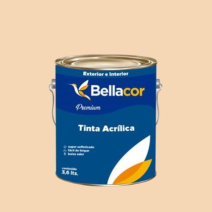 Tinta Acrílica Semi-Brilho Premium A51 Laranja Secreto 3,2L Bellacor