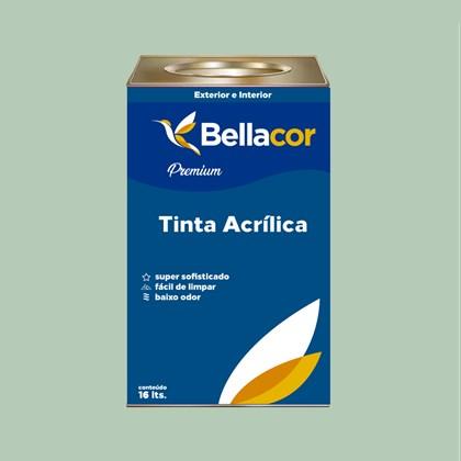 Tinta Acrílica Semi-Brilho Premium A69 Verde Claro 16L Bellacor
