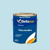 Tinta Acrílica Semi-Brilho Premium A76 Azul Delicado 3,2L Bellacor