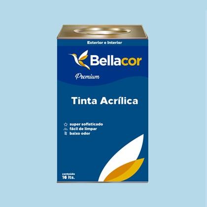 Tinta Acrílica Semi-Brilho Premium A77 Azul Correnteza 16L Bellacor
