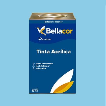 Tinta Acrílica Semi-Brilho Premium A78 Azul Chiffon 16L Bellacor