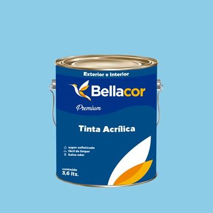 Tinta Acrílica Semi-Brilho Premium A78 Azul Chiffon 3,2L Bellacor