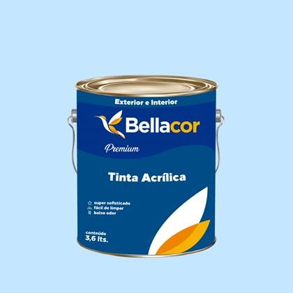 Tinta Acrílica Semi-Brilho Premium A80 Azul Celeste 3,2L Bellacor