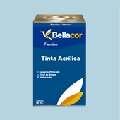 Tinta Acrílica Semi-Brilho Premium A83 Azul Claro 16L Bellacor