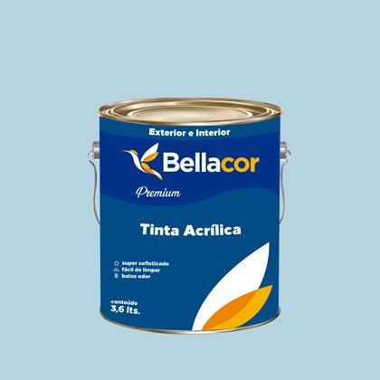 Tinta Acrílica Semi-Brilho Premium A83 Azul Claro 3,2L Bellacor