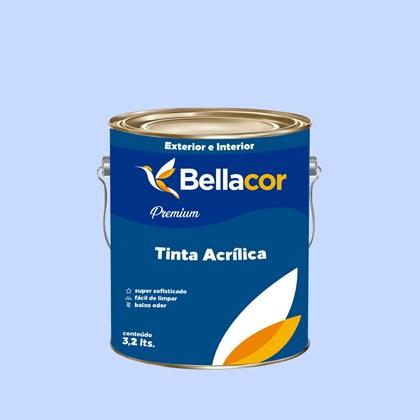 Tinta Acrílica Semi-Brilho Premium A89 Azul Citrino 3,2L Bellacor