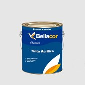 Tinta Acrílica Semi-Brilho Premium A96 Cinza Alumínio 3,2L Bellacor