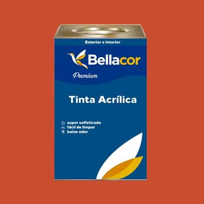 Tinta Acrílica Semi-Brilho Premium B05 Vermelho Coloral 16L Bellacor