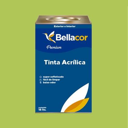 Tinta Acrílica Semi-Brilho Premium B08 Verde Limão 16L Bellacor