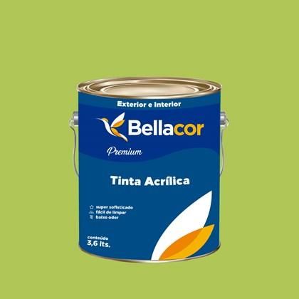 Tinta Acrílica Semi-Brilho Premium B08 Verde Limão 3,2L Bellacor
