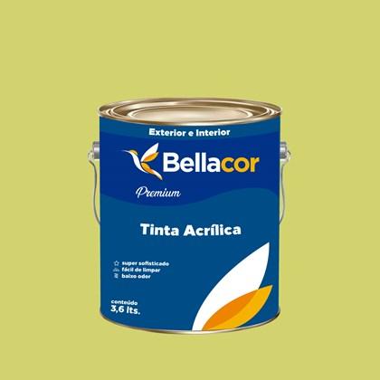 Tinta Acrílica Semi-Brilho Premium B09 Verde Lima 3,2L Bellacor