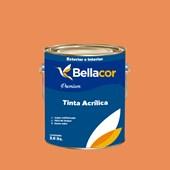 Tinta Acrílica Semi-Brilho Premium B102 Doce de Mamão 3,2L Bellacor