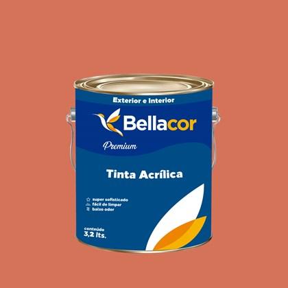 Tinta Acrílica Semi-Brilho Premium B18 Acerola 3,2L Bellacor