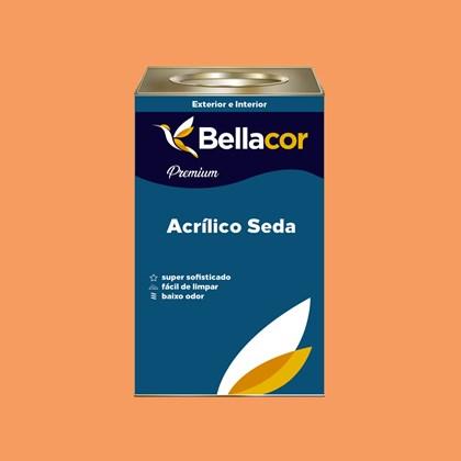 Tinta Acrílica Semi-Brilho Premium B30 Laranja Claro 16L Bellacor
