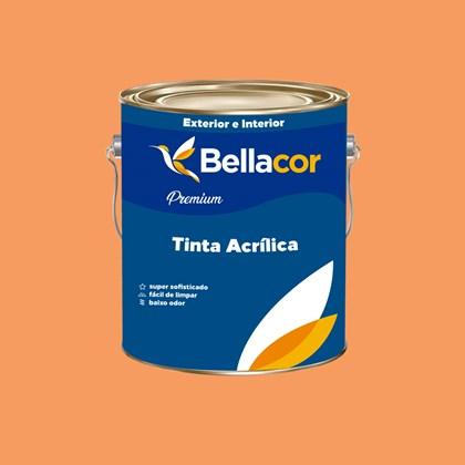 Tinta Acrílica Semi-Brilho Premium B30 Laranja Claro 3,2L Bellacor