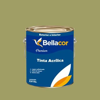 Tinta Acrílica Semi-Brilho Premium B32 Verde Caule 3,2L Bellacor