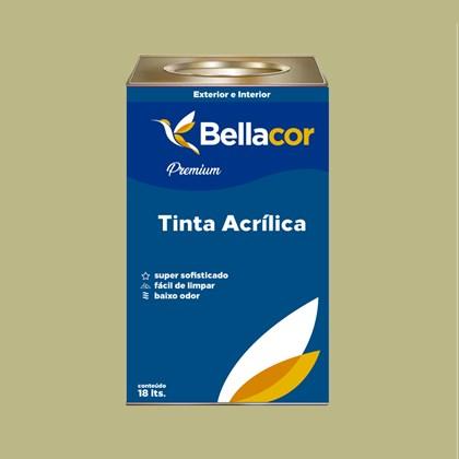 Tinta Acrílica Semi-Brilho Premium B33 Verde Primavera 16L Bellacor