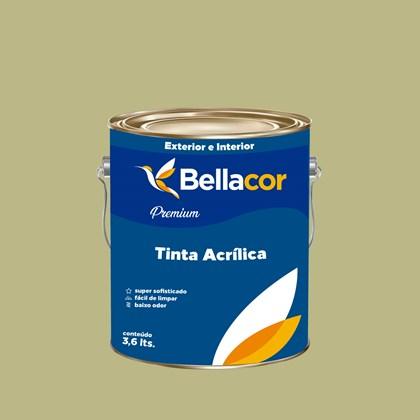 Tinta Acrílica Semi-Brilho Premium B33 Verde Primavera 3,2L Bellacor