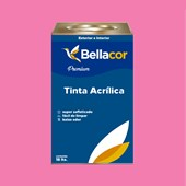 Tinta Acrílica Semi-Brilho Premium B50 Rosa Flory 16L Bellacor