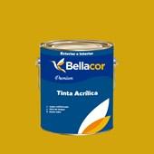 Tinta Acrílica Semi-Brilho Premium B52 Amarelo Dourado 3,2L Bellacor