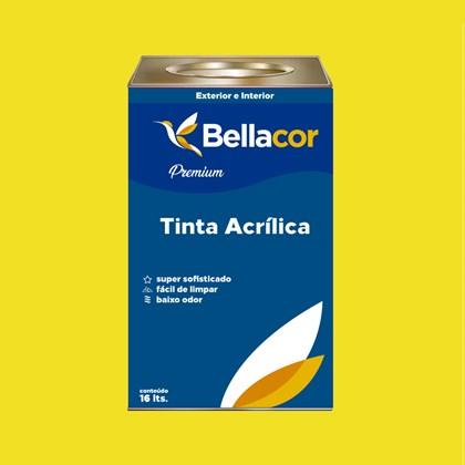 Tinta Acrílica Semi-Brilho Premium B54 Amarelo Limão 16L Bellacor