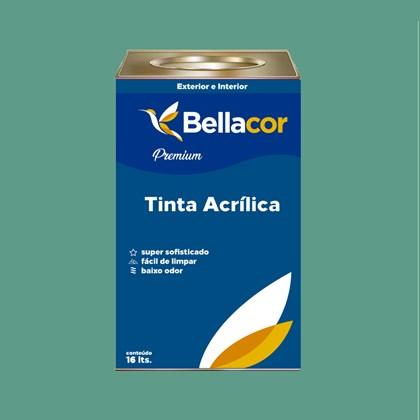 Tinta Acrílica Semi-Brilho Premium B57 Verde Encantado 16L Bellacor