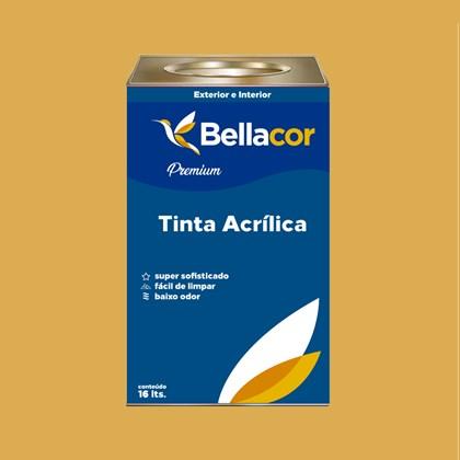 Tinta Acrílica Semi-Brilho Premium B77 Mostarda Francesa 16L Bellacor