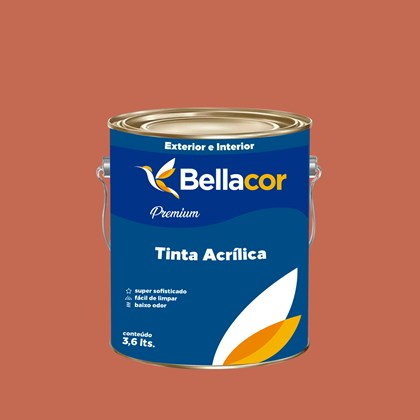 Tinta Acrílica Semi-Brilho Premium B87 Romeu e Julieta 3,2L Bellacor