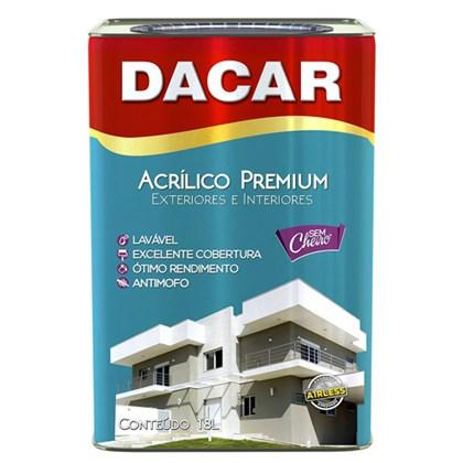 TINTA ACRÍLICA SEMI BRILHO PREMIUM BRANCA - 18L DACAR
