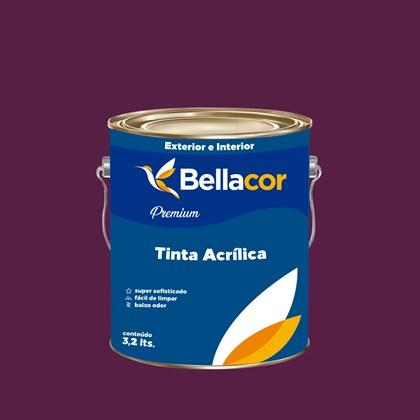 Tinta Acrílica Semi-Brilho Premium C01 Creme de Ameixa 3,2L Bellacor