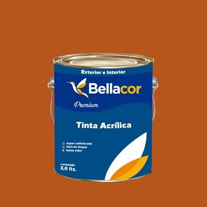 Tinta Acrílica Semi-Brilho Premium C100 Café Espresso 3,2L Bellacor