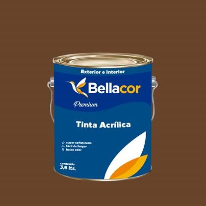 Tinta Acrílica Semi-Brilho Premium C109 Chocolate Amargo 3,2L Bellacor