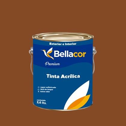 Tinta Acrílica Semi-Brilho Premium C110 Marrom Bombom 3,2L Bellacor