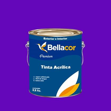 Tinta Acrílica Semi-Brilho Premium C15 Roxo 3,2L Bellacor