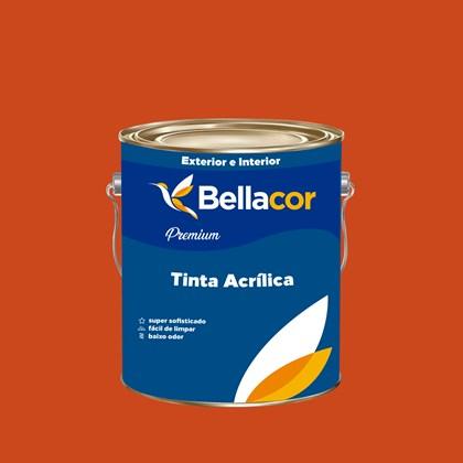 Tinta Acrílica Semi-Brilho Premium C16 Vermelho 3,2L Bellacor