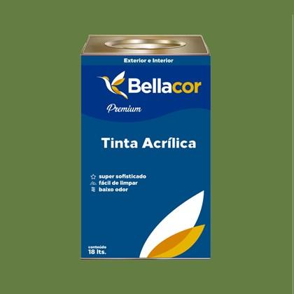 Tinta Acrílica Semi-Brilho Premium C19 Verde Jacaré 16L Bellacor