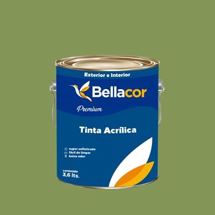 Tinta Acrílica Semi-Brilho Premium C21 Verde 3,2L Bellacor