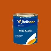 Tinta Acrílica Semi-Brilho Premium C28 Laranja 3,2L Bellacor