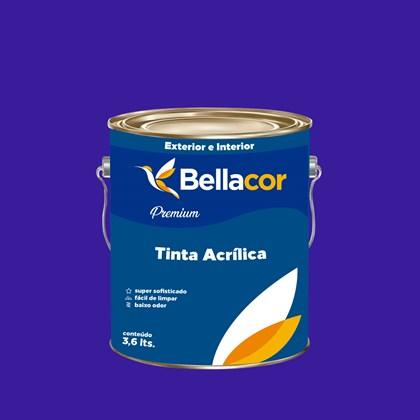 Tinta Acrílica Semi-Brilho Premium C36 Azul Radiante 3,2L Bellacor