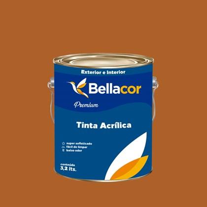 Tinta Acrílica Semi-Brilho Premium C40 Marrom Terra 3,2L Bellacor