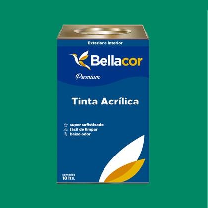Tinta Acrílica Semi-Brilho Premium C44 Verde Irlandês 16L Bellacor