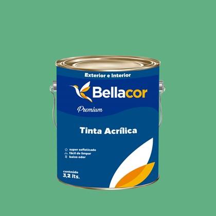 Tinta Acrílica Semi-Brilho Premium C45 Esmeralda 3,2L Bellacor