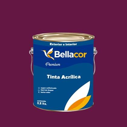 Tinta Acrílica Semi-Brilho Premium C62 Framboesa 3,2L Bellacor