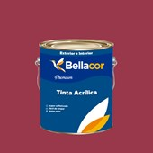 Tinta Acrílica Semi-Brilho Premium C63 Geleia de Amora 3,2L Bellacor