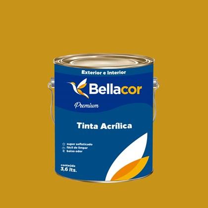 Tinta Acrílica Semi-Brilho Premium C64 Amarelo Queimado 3,2L Bellacor