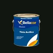 Tinta Acrílica Semi-Brilho Premium C67 Verde Escuro 3,2L Bellacor