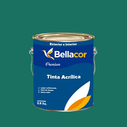 Tinta Acrílica Semi-Brilho Premium C71 Azul Continental 3,2L Bellacor