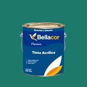 Tinta Acrílica Semi-Brilho Premium C72 Mergulho Azul 3,2L Bellacor
